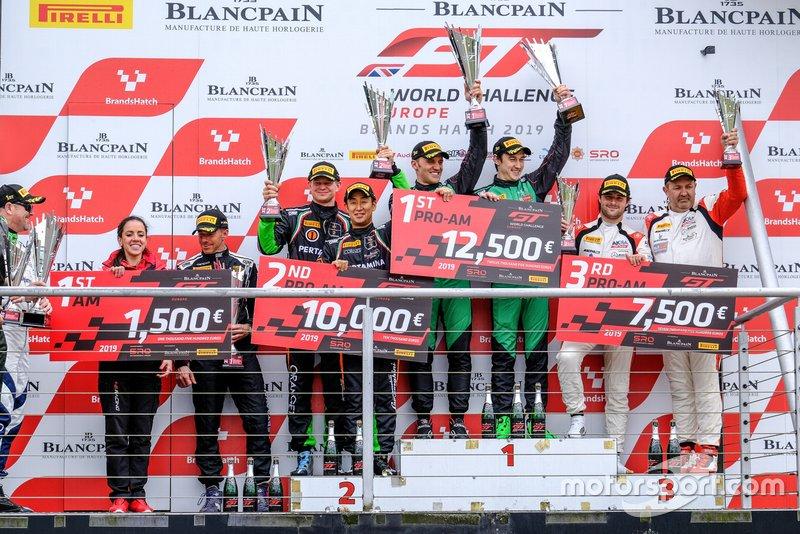 Podio: ganadores #89 Akka ASP Team Mercedes-AMG GT3: Nico Bastian, Thomas Neubauer