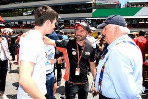 Charles Leclerc, Ferrari with Max Biaggi