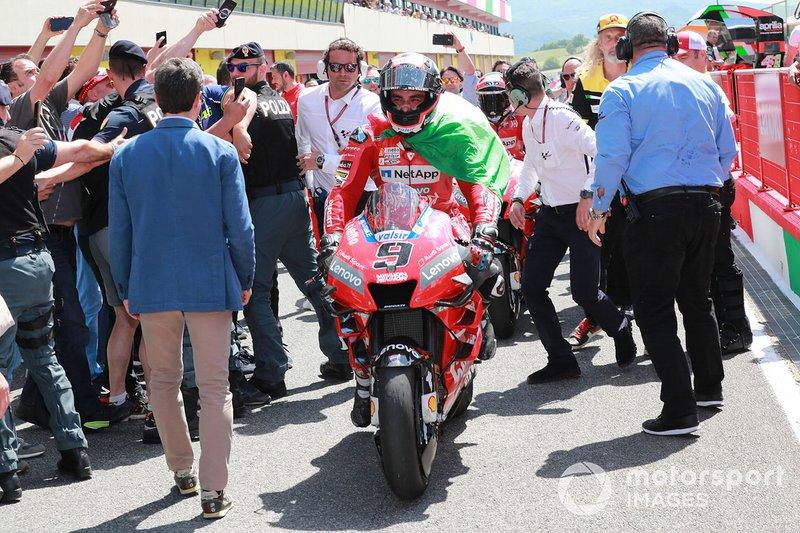 Il vincitore della gara Danilo Petrucci, Ducati Team
