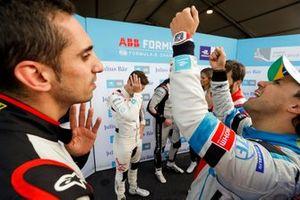 Sébastien Buemi, Nissan e.Dams, Felipe Massa, Venturi Formula E, in discussion after superpole