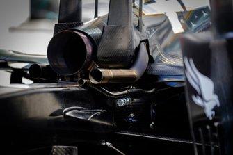 Mercedes AMG F1 W10 achterkant detail
