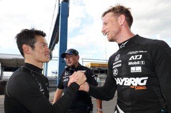 山本尚貴とジェンソン・バトン(#1 RAYBRIG NSX-GT)