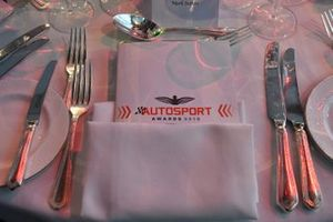 Set place at a table with the Awards programme