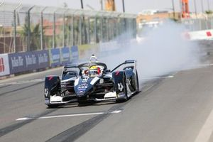 Sergio Sette Camara, Rookie Test Driver for GEOX Dragon, Penske EV-4, does a burn out