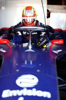Robin Frijns, Virgin Racing, Audi e-tron FE06 in garage