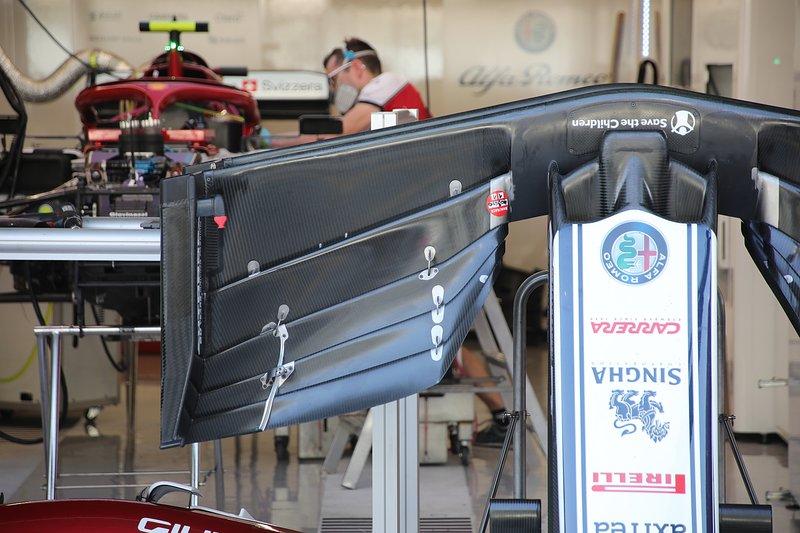 L'aileron avant de l'Alfa Romeo C38