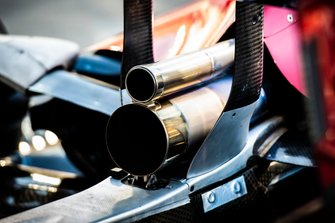 Exhaust detail of an Alfa Romeo Racing C38