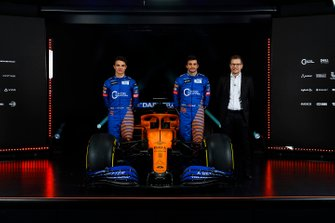 Carlos Sainz Jr., McLaren, Lando Norris, McLaren and Andreas Seidl, Team Principal, McLaren