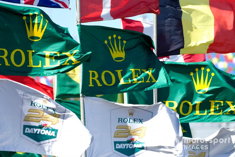 Rolex Daytona flags