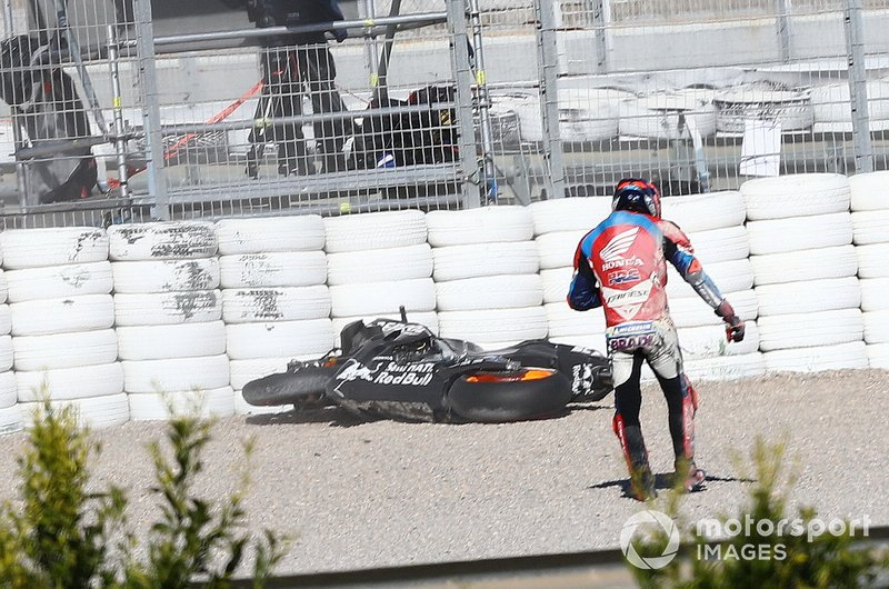 Stefan Bradl, Honda Racing after crash