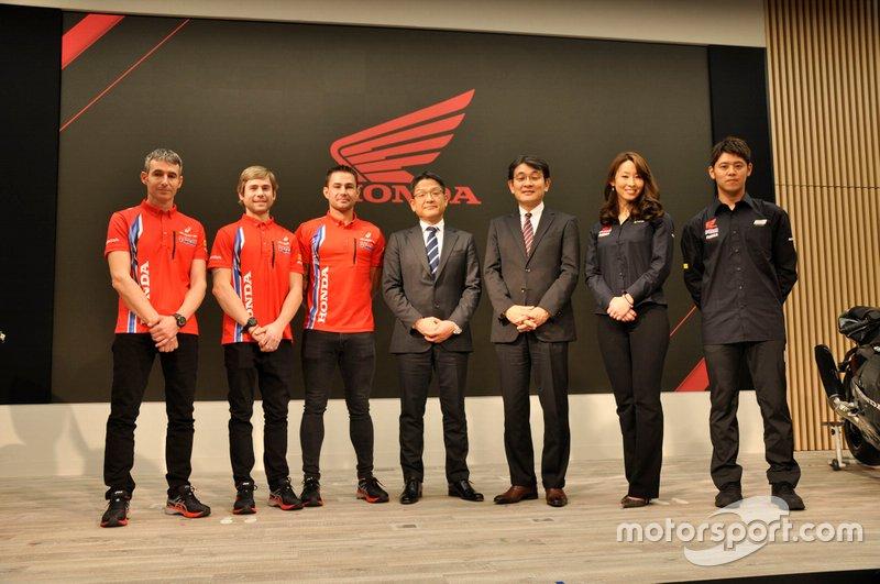 Presentazione Alvaro Bautista, Leon Haslam, Takumi Takahashi, Team HRC