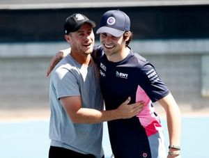 Lance Stroll, Racing Point with Lleyton Hewitt