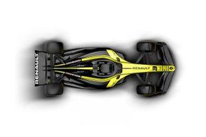 Машина Ф1 2021 года в ливрее Renault