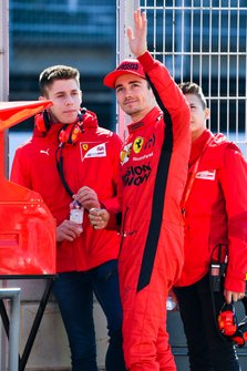 Charles Leclerc, Ferrari on the pit wall