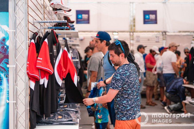Fans in the Formula E Fan store