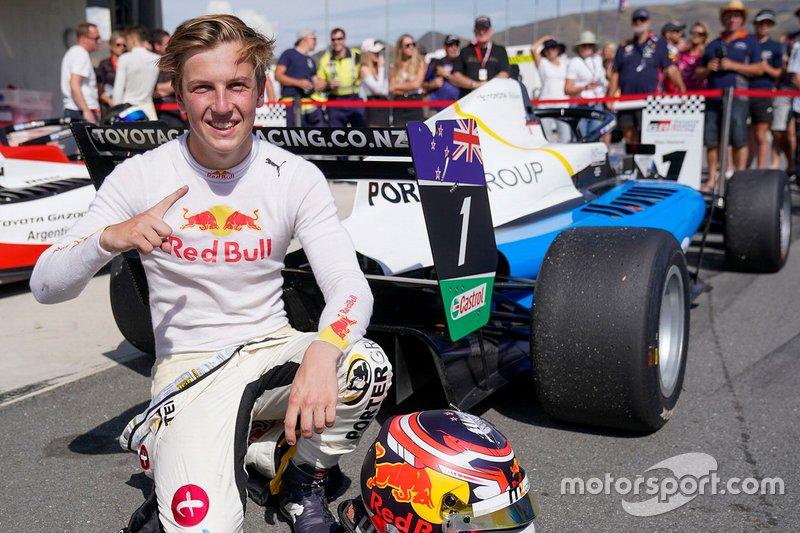 Race winner Liam Lawson
