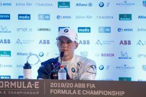 Maximilian Günther, BMW I Andretti Motorsports, 1ª posición, en la rueda de prensa posterior a la carrera