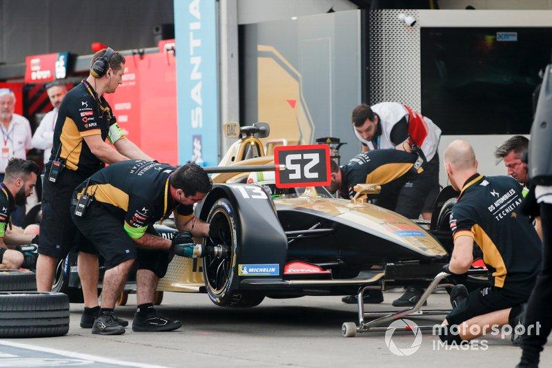 Antonio Felix da Costa, DS Techeetah, DS E-Tense FE20, fa un pit stop