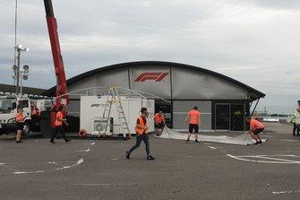 Le centre de diffusion TV de la F1