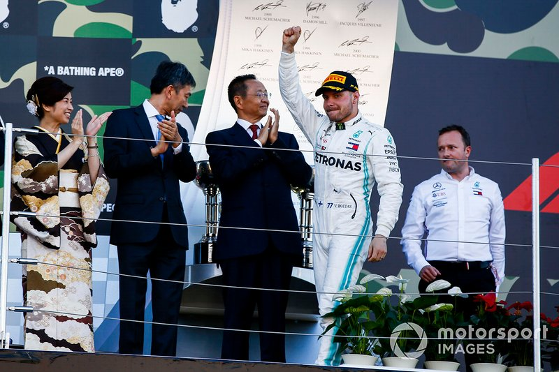 Valtteri Bottas, Mercedes AMG F1, 1st position, on the podium