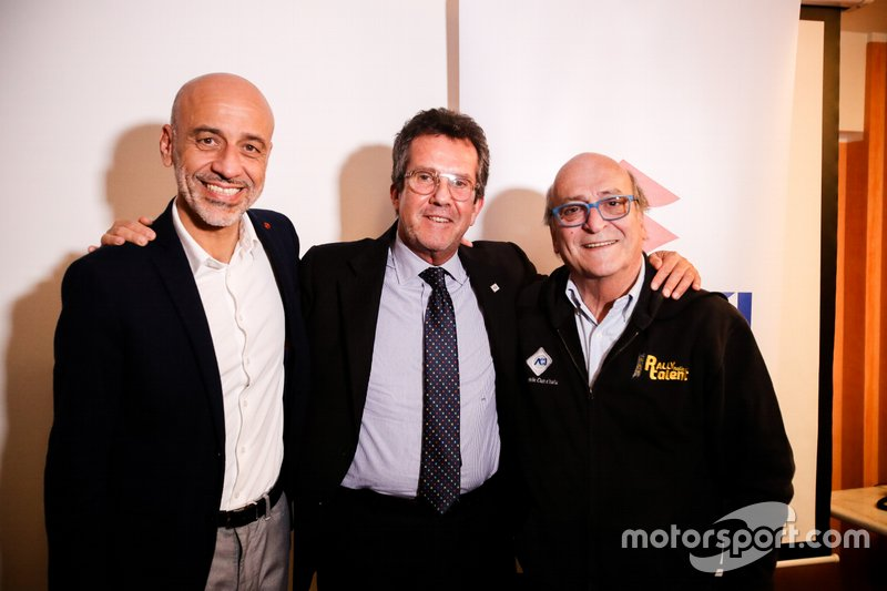 Massimo Nalli, Presidente Suzuki Italia, Adriano Baso, membro del Comitato Esecutivo di ACI Italia, e Renzo Magnani, ideatore di Rally Italia Talent