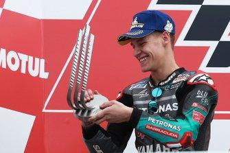 Podium: tweede plaats Fabio Quartararo, Petronas Yamaha SRT