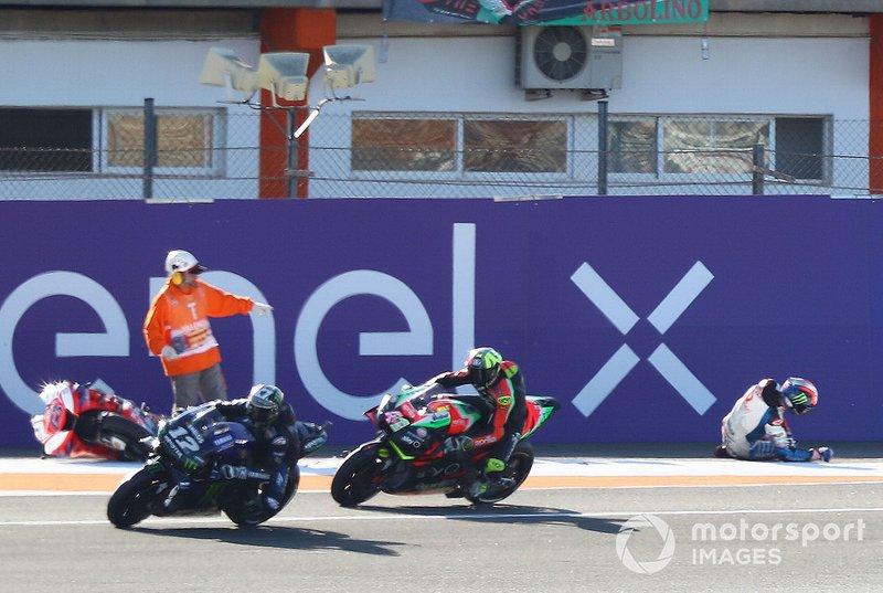 Francesco Bagnaia, Pramac Racing después de la caída