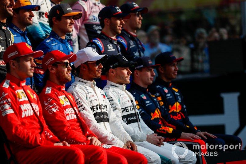Foto dei piloti di F1 del 2019