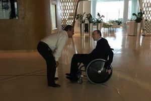 Domingos Piedade con Frank Williams en Abu Dhabi