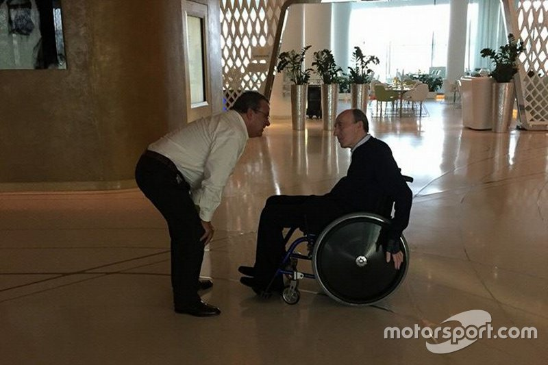 Domingos Piedade con Frank Williams en Abu Dhabi, 2014