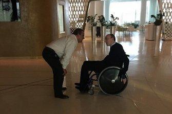 Domingos Piedade con Frank Williams en Abu Dhabi