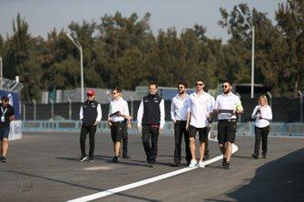 Felipe Massa, Venturi, Edoardo Mortara, Venturi walk the track