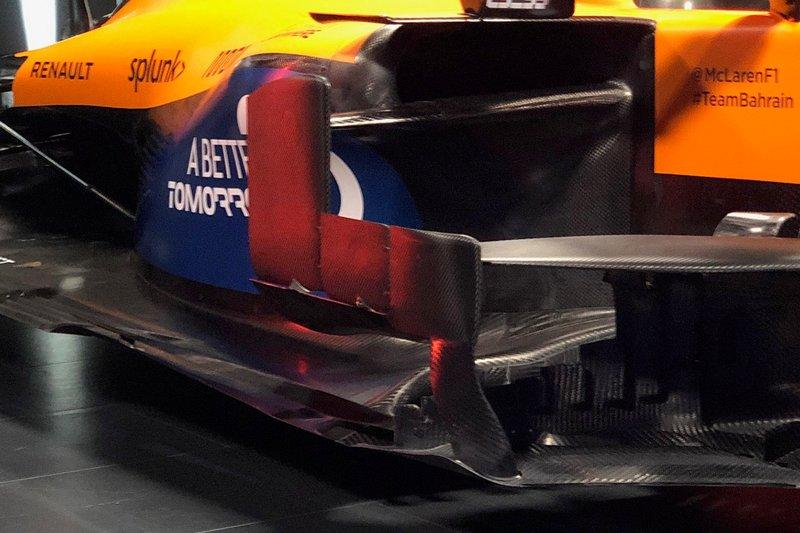 McLaren MCL35, dettaglio dei sidepods