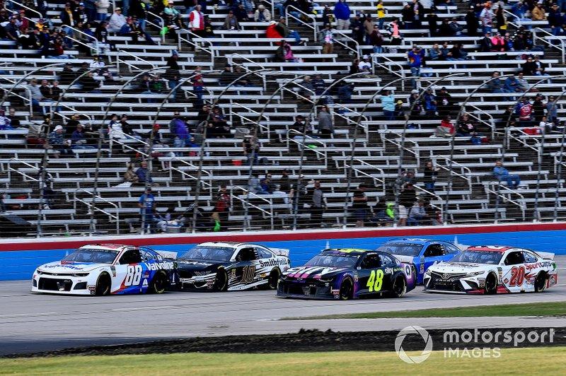 Alex Bowman, Hendrick Motorsports, Chevrolet Camaro Valvoline and Jimmie Johnson, Hendrick Motorsports, Chevrolet Camaro Ally Fueling Futures