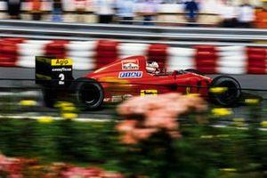 Nigel Mansell, Ferrari, al GP di Monaco del 1990
