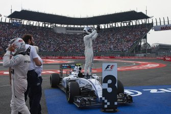 Derde plaats Valtteri Bottas, Williams