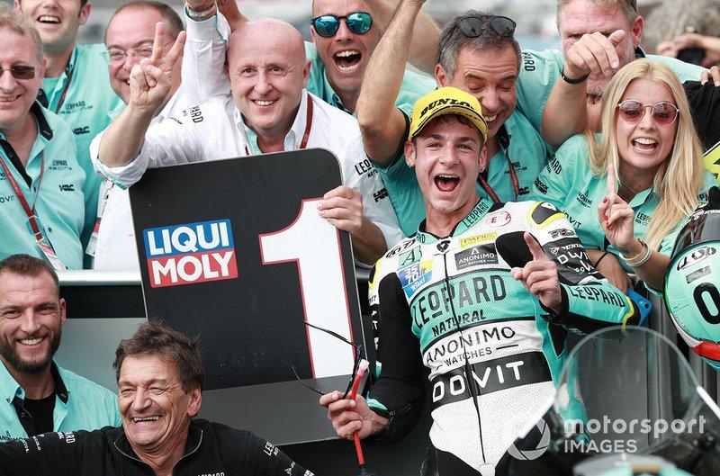 Il vincitore della gara Lorenzo Dalla Porta, Leopard Racing