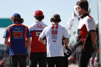 Marco Bezzecchi, Tech 3, Francesco Bagnaia, Pramac Racing, Niccolo Antonelli, SIC58 Squadra Corse