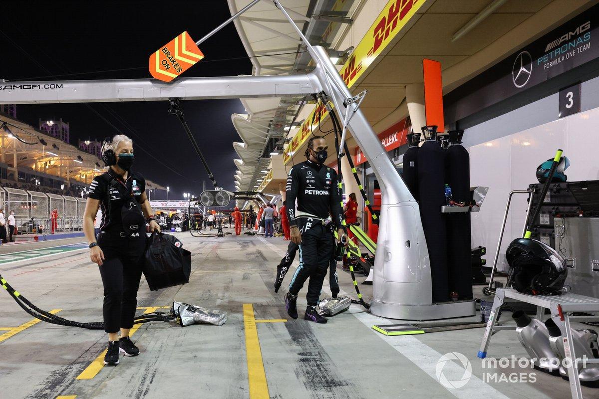 Lewis Hamilton, Mercedes-AMG F1, y Angela Cullen, fisio de Lewis Hamilton