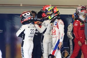 Yuki Tsunoda, AlphaTauri, Pierre Gasly, AlphaTauri, and Mick Schumacher, Haas F1, weigh in after the race