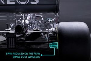 Mercedes AMG F1 W12 changes