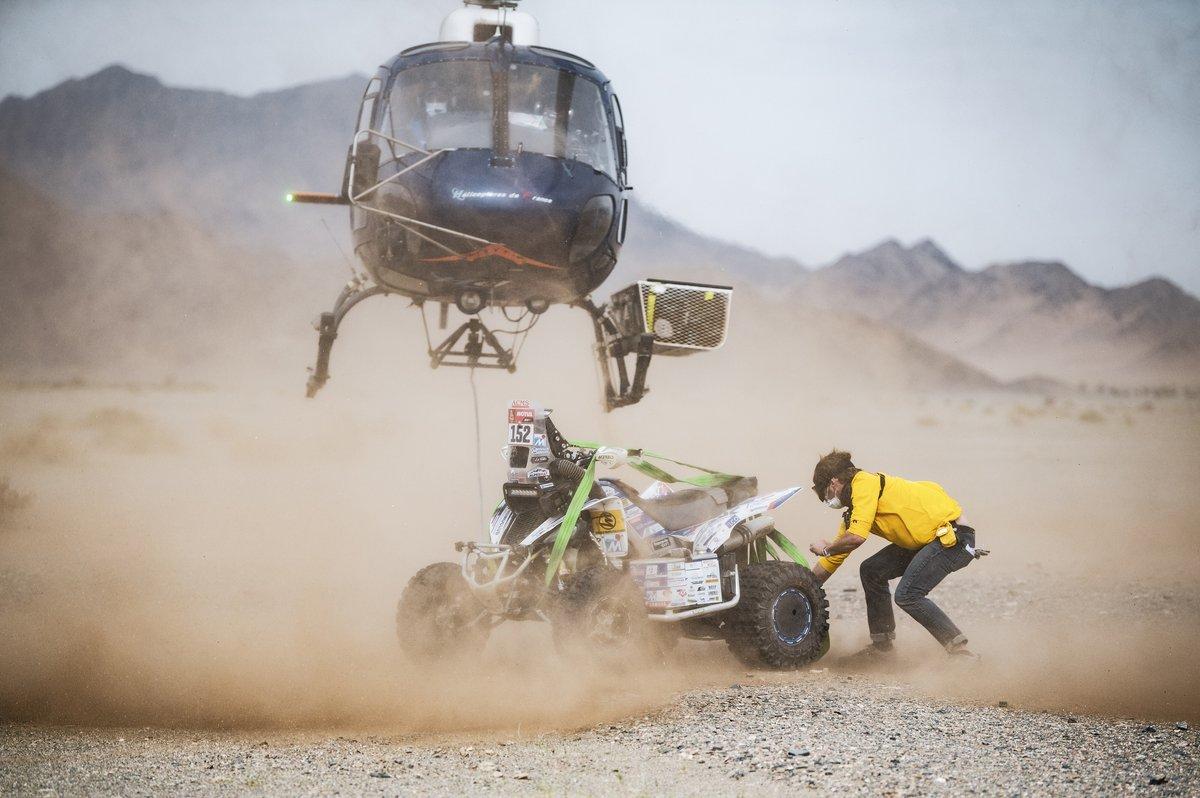 Ilustración del rescate de #152 Team Giroud Yamaha: Alexandre Giroud
