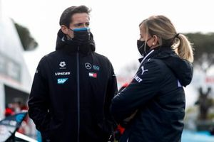 Ian James, team principal de Mercedes Benz EQ, Susie Wolff, team principal de Venturi