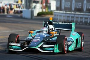 Charles Bradley, Editor Motorsport.com in two-seater IndyCar with Mario Andretti