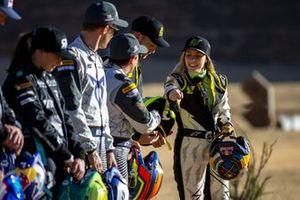 Molly Taylor, Rosberg X Racing, Mattias Ekstrom, ABT CUPRA XE, Claudia Hurtgen, ABT CUPRA XE Jenson Button, JBXE Extreme-E Team and Mikaela Ahlin-Kottulinsky, JBXE Extreme-E Team