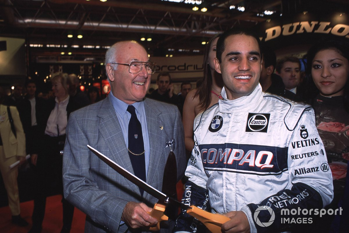 Murray Walker and Juan Pablo Montoya