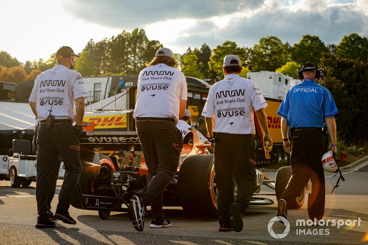 Patricio O'Ward, Arrow McLaren SP Chevrolet se lleva la pole position