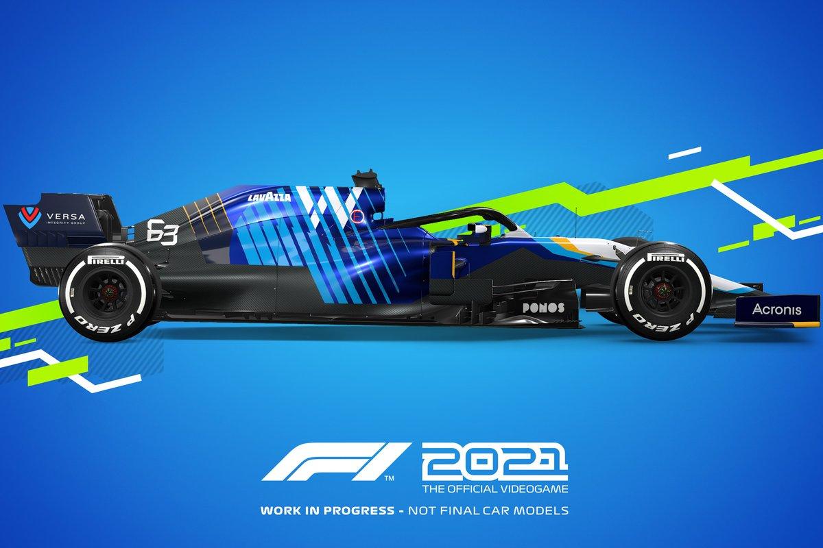 Decoración F1 2021 Williams