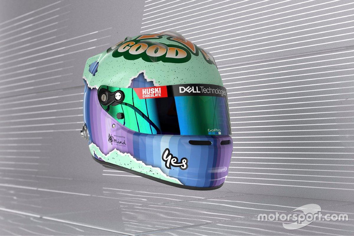 Casque de Daniel Ricciardo, McLaren
