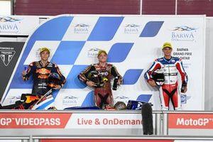 Top 3, Sam Lowes, Marc VDS Racing Team, Raul Fernandez, Red Bull KTM Ajo, Bo Bendsneydar parc ferme